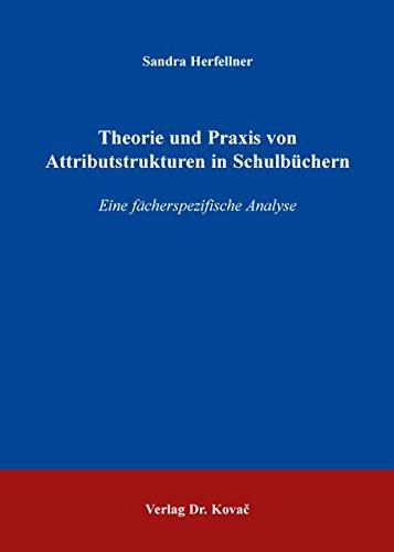 9783830087809: Theorie und Praxis von Attributstrukturen in Schulbüchern. Eine fächerspezifische Analyse