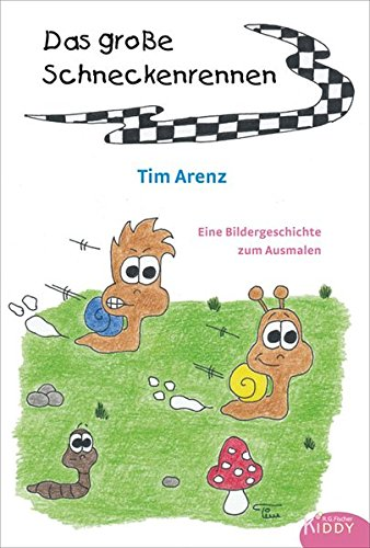 9783830115557: Das große Schneckenrennen: Eine Bildergeschichte zum Ausmalen