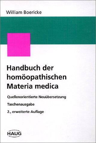 9783830402138: Handbuch der homöopathischen Materia medica, Taschenausgabe