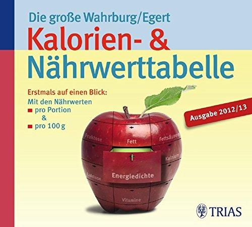 9783830460671: Die große Wahrburg/Egert Kalorien-&-Nährwerttabelle: Erstmals auf einen Blick: Mit den Nährwerten  pro Portion & pro 100 g