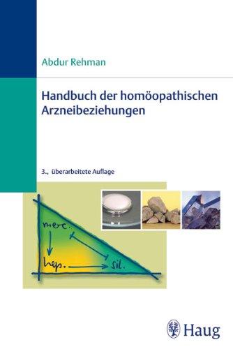 9783830472582: Handbuch der homöopathischen Arzneibeziehungen