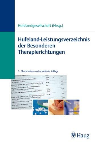 9783830473138: Hufeland-Leistungsverzeichnis der Besonderen Therapierichtungen