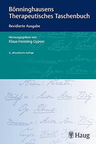 Bönninghausens Therapeutisches Taschenbuch: Klaus-Henning Gypser