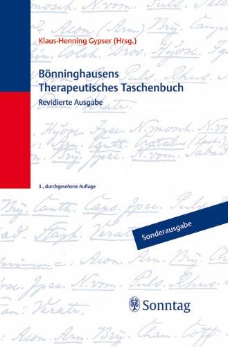 Bönninghausens Therapeutisches Taschenbuch von Klaus-Henning Gypser: Klaus-Henning Gypser