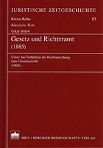 9783830505488: Gesetz und Richteramt (1885)
