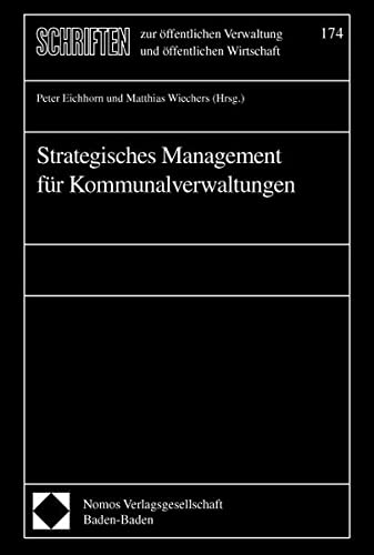 9783830507994: Strategisches Management für Kommunalverwaltungen