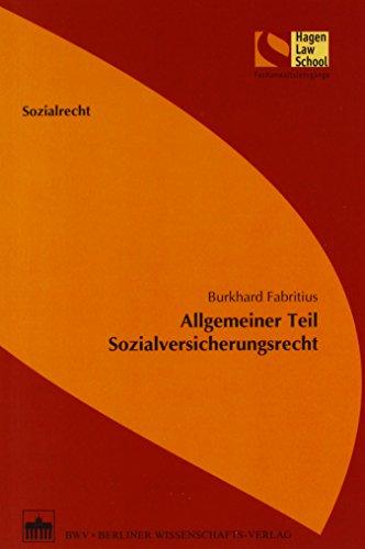 9783830519980: Allgemeiner Teil - Sozialversicherungsrecht
