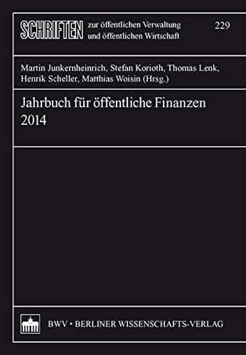 9783830533887: Jahrbuch für öffentliche Finanzen 2014