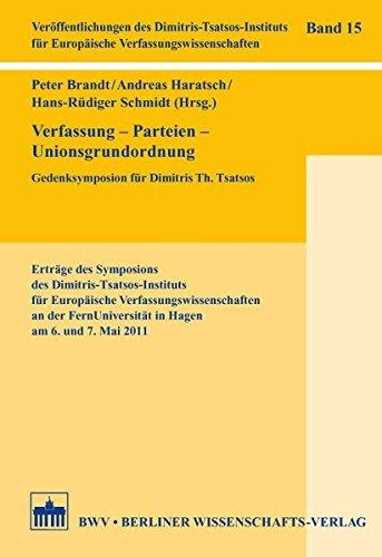 Verfassung - Parteien - Unionsgrundordnung: Peter Brandt