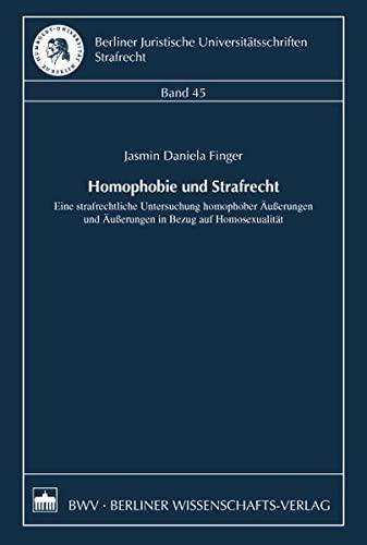 Homophobie und Strafrecht: Jasmin Daniela Finger