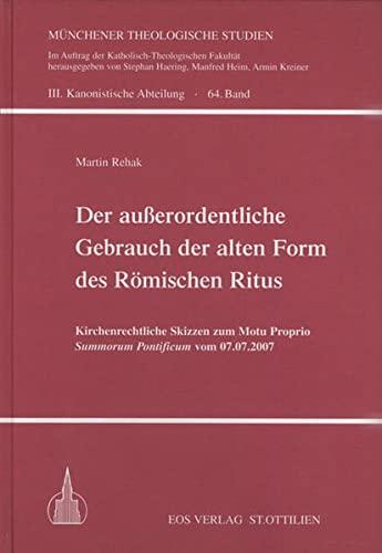 Der auerordentliche Gebrauch der alten Form des: Martin Rehak