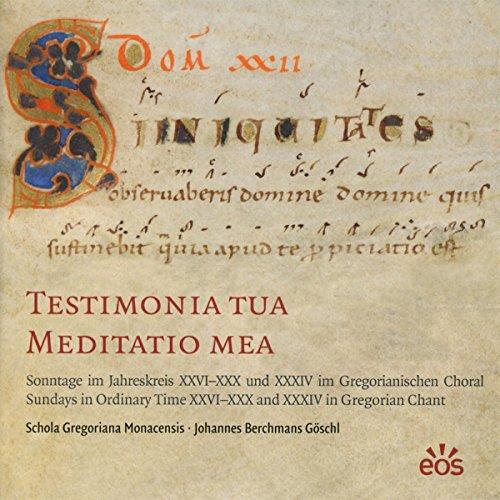 9783830677970: Testimonia Tua Meditatio Mea