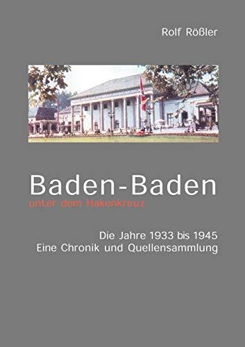 9783831102884: Baden-Baden unter dem Hakenkreuz (German Edition)