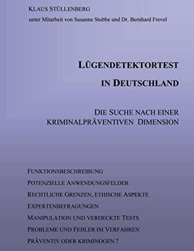 9783831107773: Lügendetektortest in Deutschland