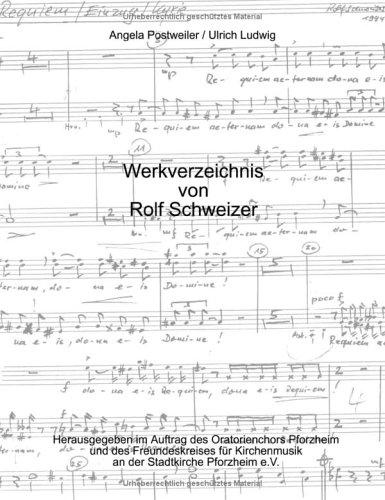 9783831121229: Werksverzeichnis von Rolf Schweizer.