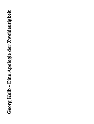 9783831123858: Eine Apologie der Zweideutigkeit: Franz Kafkas