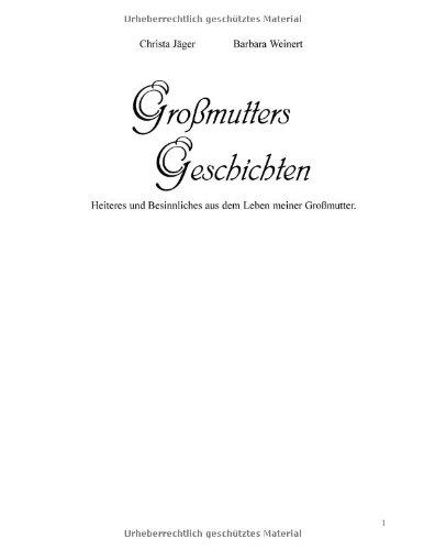 9783831124794: Gro�mutters Geschichten.