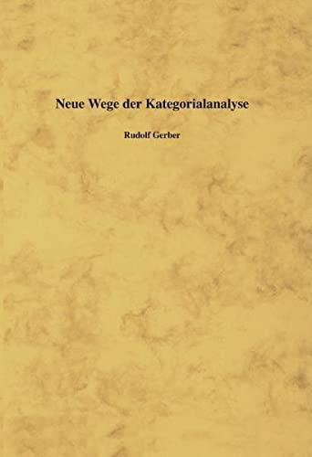 9783831147342: Neue Wege der Kategorialanalyse. Hardcover-Ausgabe.