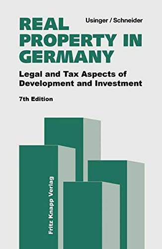 9783831408207: Real Property in Germany: Legal and Tax Aspects of Development and Investment