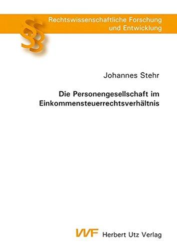 Die Personengesellschaft im Einkommensteuerrechtsverhältnis: Johannes Stehr