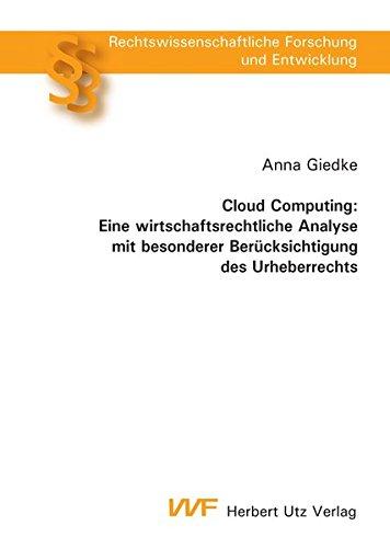 9783831643189: Cloud Computing: Eine wirtschaftsrechtliche Analyse mit besonderer Berücksichtigung des Urheberrechts