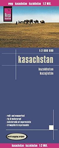9783831771370: Kazajistán, mapa impermeable de carreteras. Escala 1:2.000.000 impermeable. Reise Know-How.