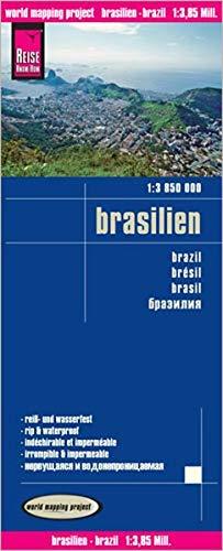 9783831771493: Reise Know-How Landkarte Brasilien 1 : 3 850 000: Kartenbild 2seitig, klassifiziertes Straßennetz, Ortsindex, GPS-tauglich durch GradnetzHöhenschichten-Relief, exakte Höhenlinien (1385m)