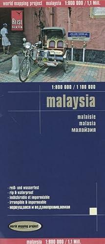 9783831771745: Malasia, mapa impermeable de carreteras. Escala 1:800.000 / 1:1.100.000 impermeable. Reise Know-How. (1800111m)