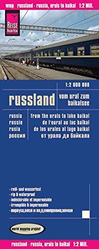9783831772315: Rusia: De los Urales al Baikal, mapa impermeable de carreteras. Escala 1:2.000.000 impermeable. Reise Know-How. (12m)