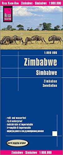 9783831772704: Zimbabue, mapa impermeable de carreteras. Escala 1:800.000 impermeable. Reise Know-How.