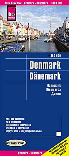 9783831773558: Dinamarca, mapa impermeable de carreteras. Escala 1:300.000 impermeable. Reise Know-How.