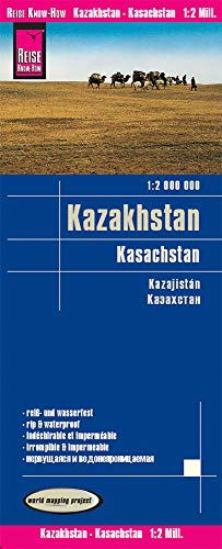 9783831773633: Kazakhstan 2016 : Rip & Waterproof Map by Reise Know-How (English, Spanish, French, German and Russian Edition)