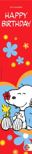 9783831819072: Snoopy Happy Birthday, Geburtstagskalender (33 x 7 cm)