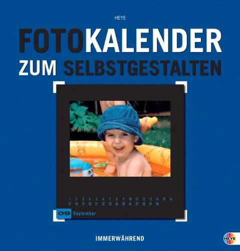 9783831839544: Foto-Kalender zum Selbstgestalten blau