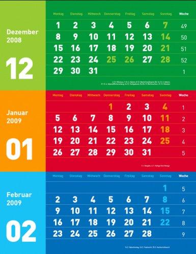 9783831844869: times & more 3-Monatsplan (bunt) 2009