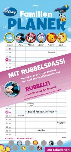 9783831852871: Disney Rubbel Familienplaner 2010