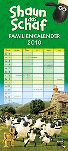 9783832012908: Shaun das Schaf - Familienkalender 2010