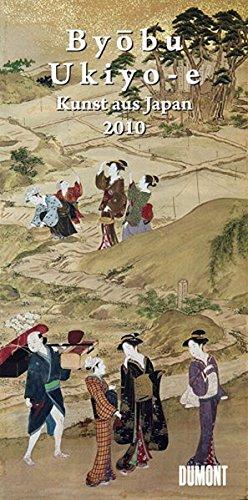 9783832014278: Byobu und Ukiyo-e. Long Size Kalender 2010: Kunst aus Japan.  Ausschnitte aus japanischen Wandschirmen und Holzschnitten