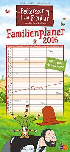 9783832031985: Pettersson & Findus Familienkalender 2016