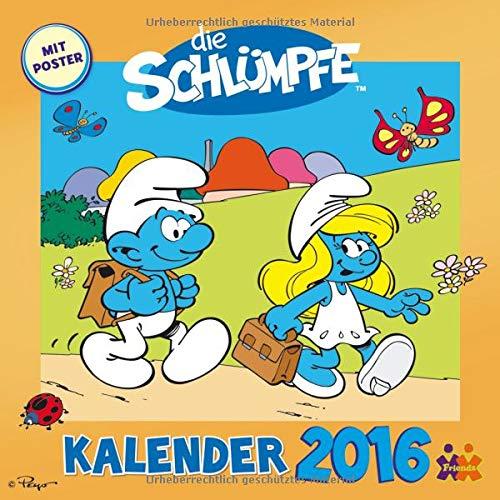 9783832032036: Die Schlümpfe - Wandkalender 2016