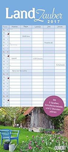 9783832035464: Landzauber Familienkalender 2017: Familienplaner 5 Spalten