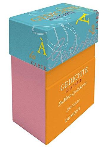 9783832179755: Gedichte à la carte: DuMonts Lyrik-Kartei. Zweihundert Gedichte in einer Aufstellbox, je als Postkarte verwendbar