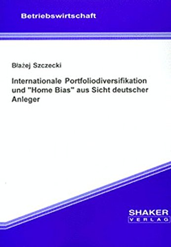 9783832202293: Internationale Portfoliodiversifikation und