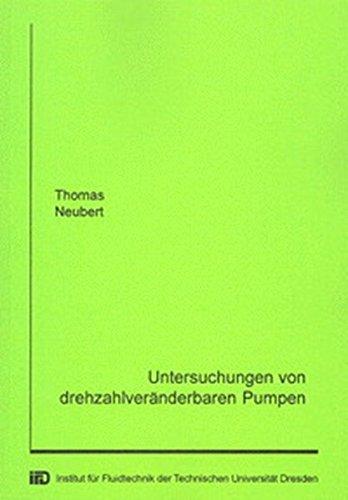 9783832205386: Neubert, T: Untersuchungen von drehzahlveränderbaren Pumpen