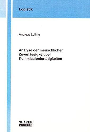 9783832214227: Analyse der menschlichen Zuverlässigkeit bei Kommissioniertätigkeiten