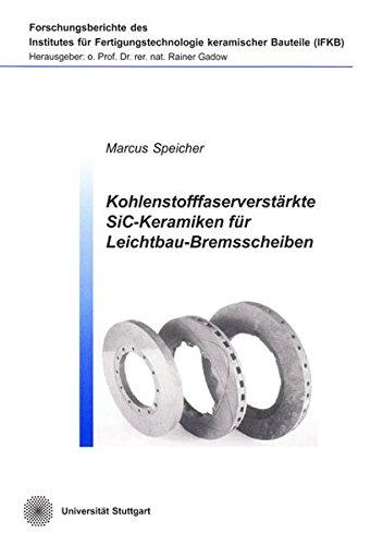 Kohlenstofffaserverstärkte SiC-Keramiken für Leichtbau-Bremsscheiben: Marcus Speicher