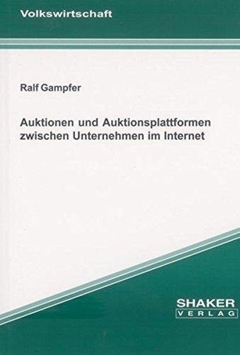 9783832220471: Auktionen und Auktionsplattformen zwischen Unternehmen im Internet
