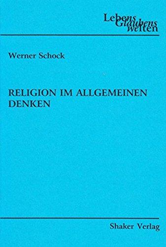 9783832221874: Religion im allgemeinen Denken