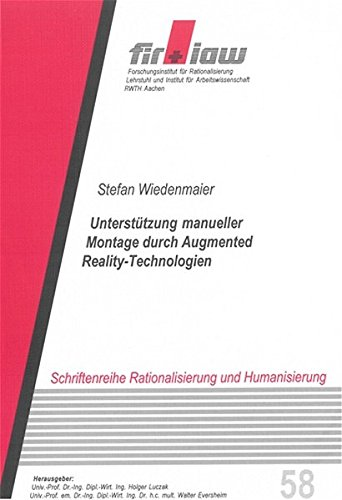 9783832224295: Unterst�tzung manueller Montage durch Augmented Reality-Technologien