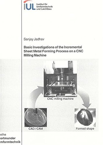 9783832237325: Basic Investigations of the Incremental Sheet Metal Forming Process on a CNC Milling Machine